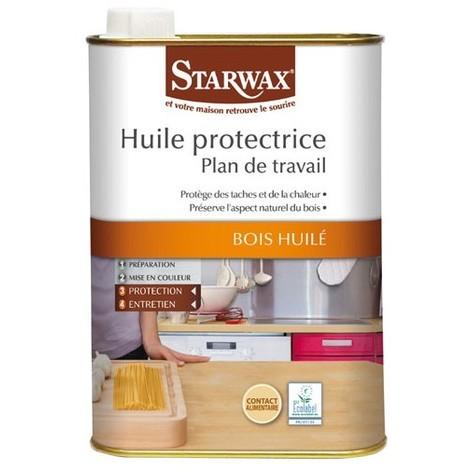 STARWAX - Huile protectrice plan de travail bois huilé 500ml - incolore