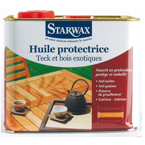 STARWAX - Huile protectrice - teck, bois exotique - 2 L