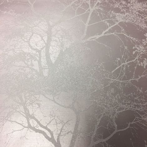 Statement Whispering Trees Grey Wallpaper