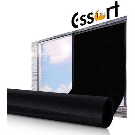 Static Cling Window Glass Film Autocollants Décor De La Chambre à La Maison étanche Noir Mat