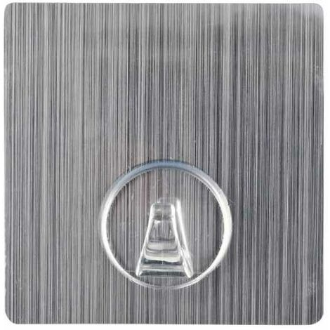Static-Loc® wall hook Uno Stainless Steel look square WENKO
