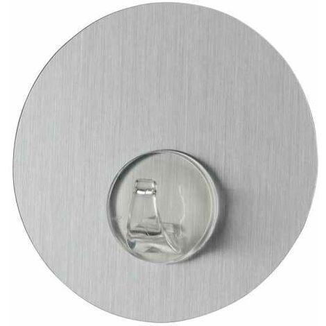 Static-Loc® wall hook Uno Stainless Steel look WENKO