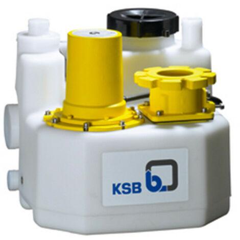 Station de relevage 150L KSB mini-Compacta UZS1150E 2 kW - Poste double avec broyeur eau chargée jusqu'à 14 m3/h monophasé 220V