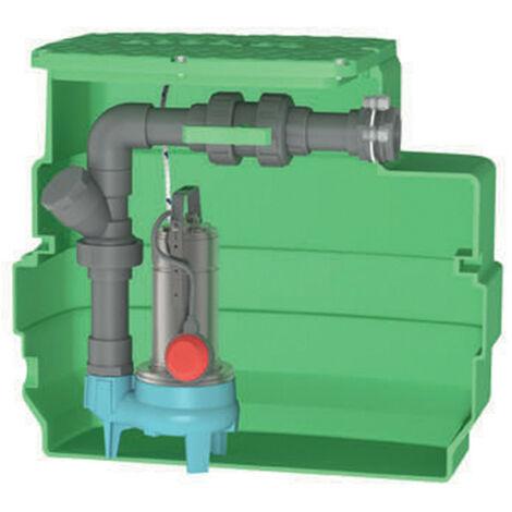 Station de relevage 230L Calpeda CAL230GQSM508 0,55 kW eau chargée jusqu'à 24 m3/h monophasé 220V