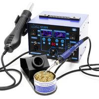 Station de soudage 2 en 1 Air chaud Brasage 725W Reworkstation Kit de soudure Élément chauffant