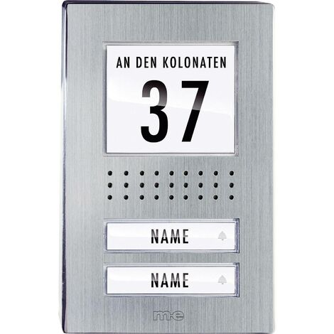 Station extérieure d'Interphone filaire 2 foyers m-e modern-electronics ADV-120.1 EG acier inoxydable Q697631