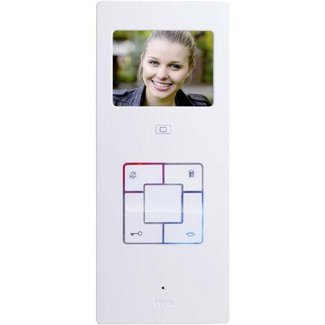 Station intérieure dInterphone vidéo filaire m-e modern-electronics Vistus VD603 argent, blanc