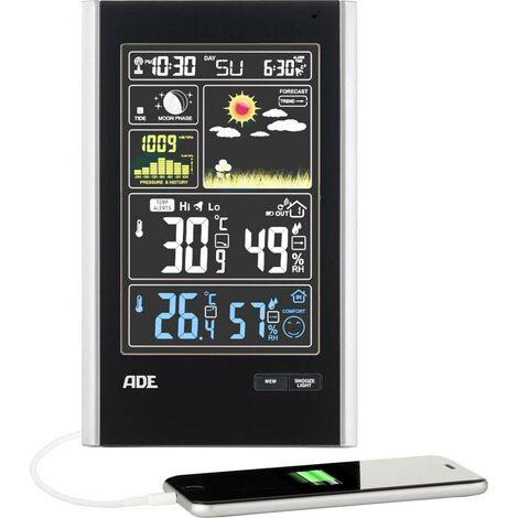 Station météo radiopilotée numérique ADE WS 1600 noir