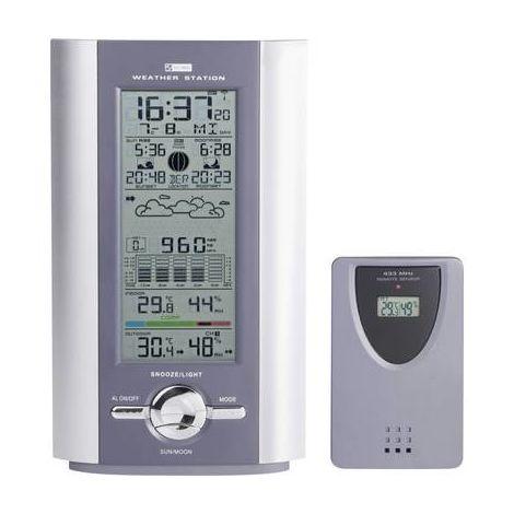Station météo radiopilotée numérique KW 9005W-SM argent, gris