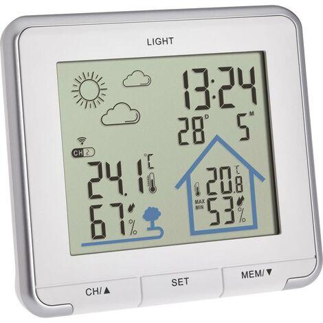 Station météo radiopilotée TFA Dostmann Funk-Wetterstation LIFE 35.1153.02 Prévisions météorologiques 12 à 24 heures 1 pc(s)
