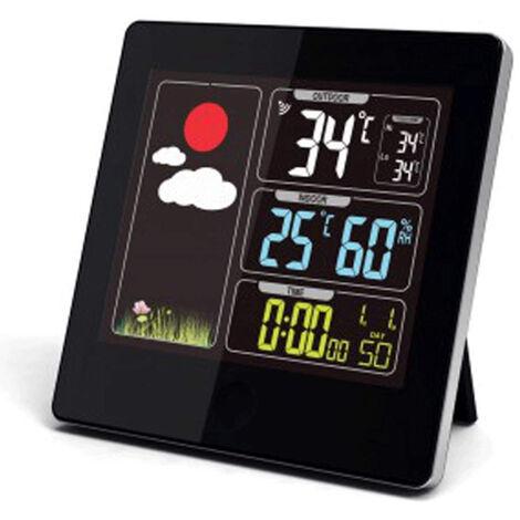 Station Météo sans fil - Ecran LCD couleur - Radiopilotée - Capteur extérieur