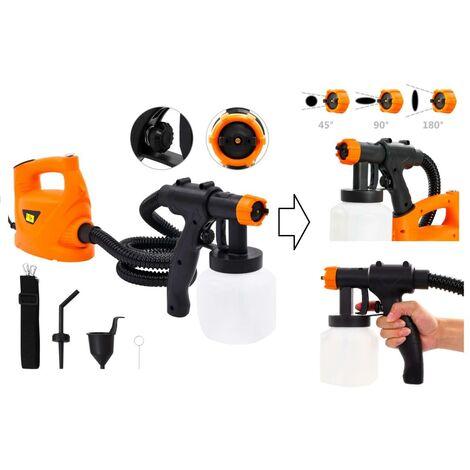 Station / Pistolet à peinture électrique 500W - 800 ml + tuyau d'air