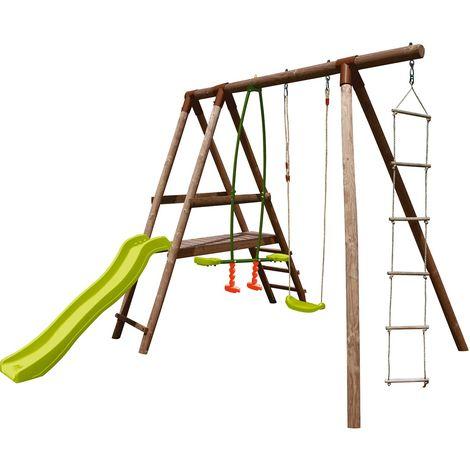 Station pour enfant avec balançoires échelle et toboggan - Gistel