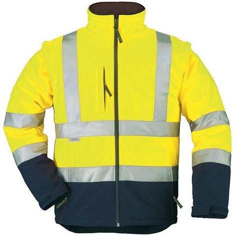 STATION veste de travail haute visibilité softshell manches amovibles Coverguard