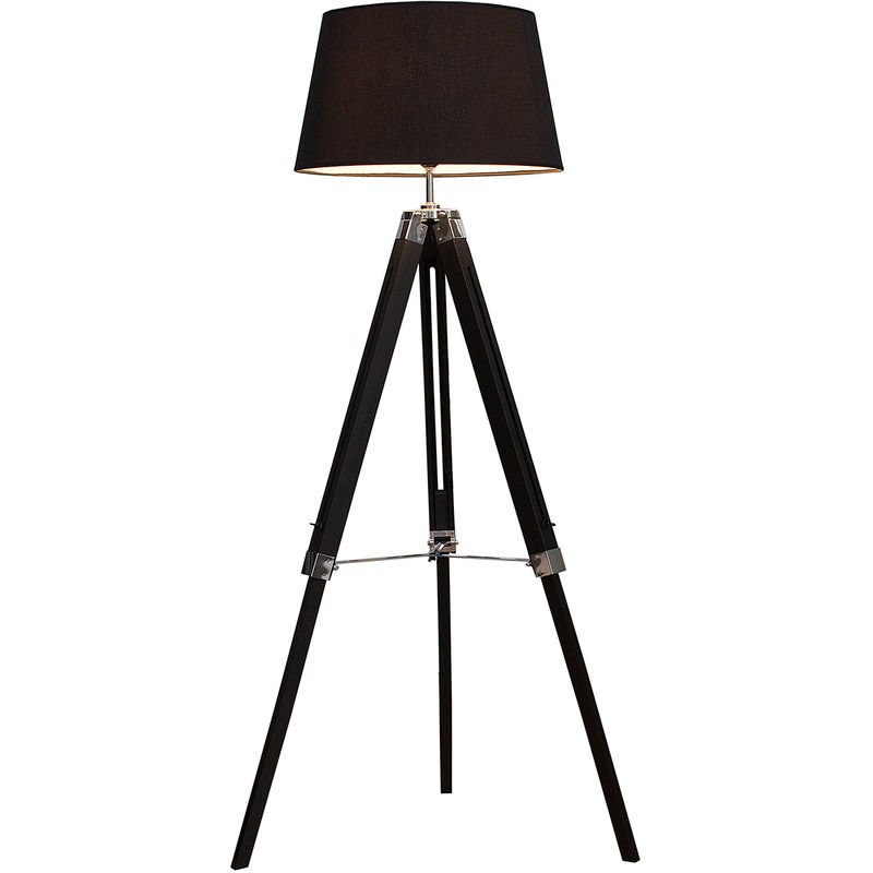 Stativlampe Stehleuchte Schwarz Dreibein verstellbar - LICHT-ERLEBNISSE