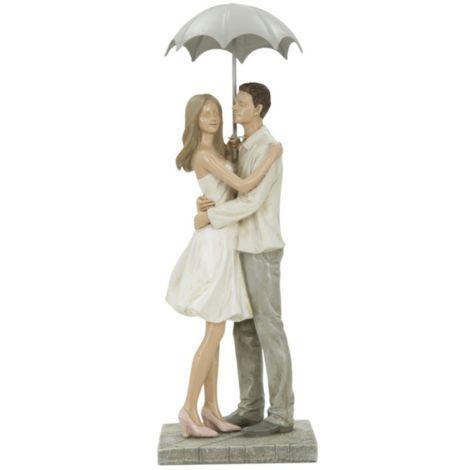 Statua scultura coppia in poliresina bianca decorazioni casa moderna LOVE