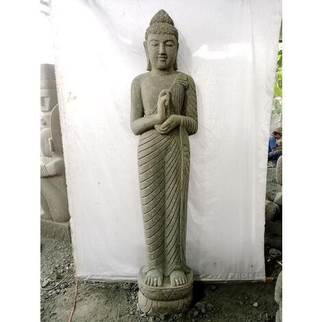 Statue en pierre Bouddha debout chakra 2 m