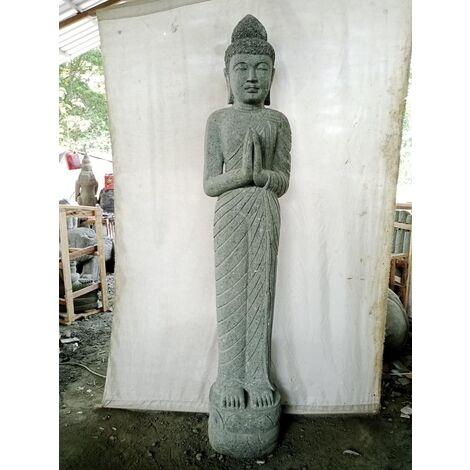 Statue en pierre naturelle déesse Dewi prière 2 m