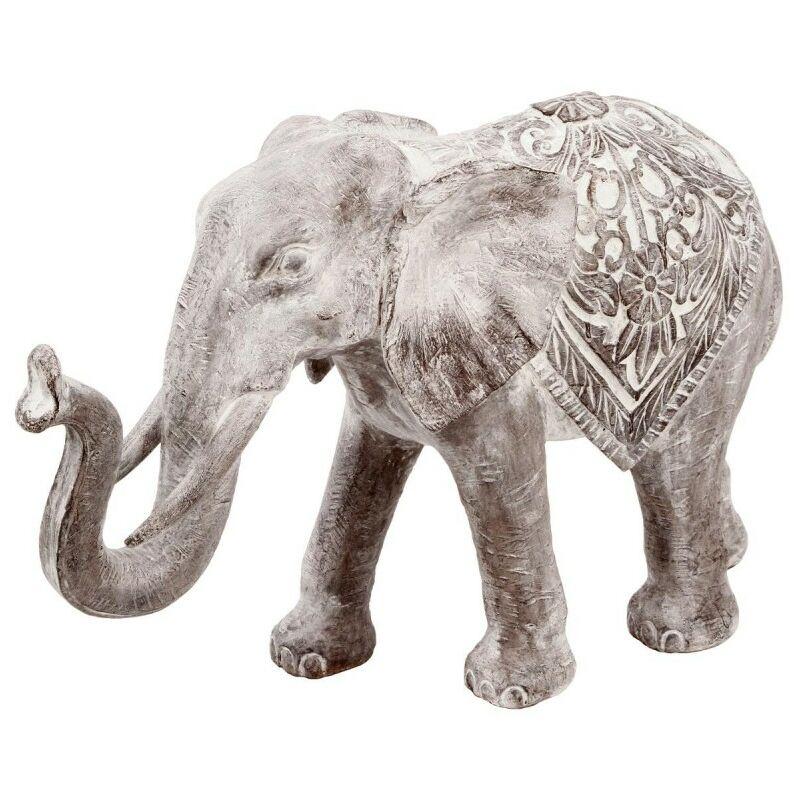 Statuette Éléphant en Résine 20cm Marron