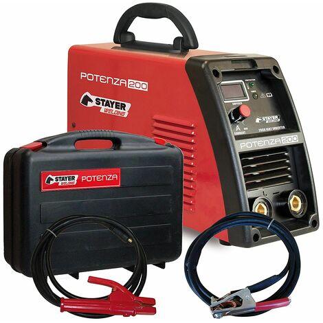 Stayer Welding - Potenza 200 Inverter Mma Soldadura Por Electrodo Potenza 60% 200A 5Mm 6Kg Kva6