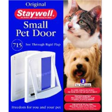 Staywell 715 Small Pet Door And Lock (One Size) (White)