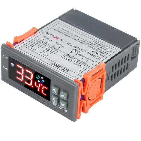 Stc-3000 Microordinateur Regulateur De Temperature 110-220V Numerique Thermoregulator Avec Sonde Ntc Laisser Refroidir La Chaleur Du Capteur