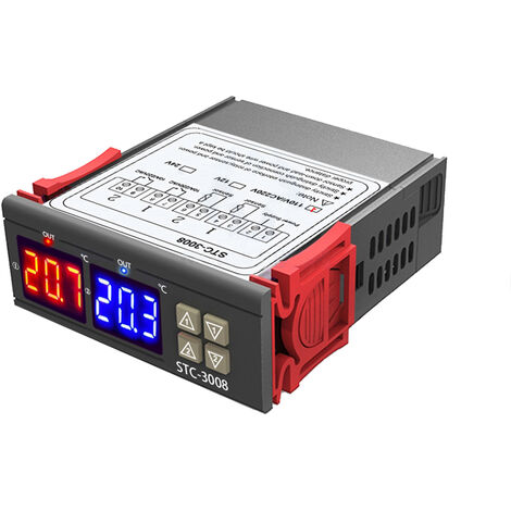 STC-3008 Thermostat de thermostat de contr?leur de temp¨¦rature ¨¤ double affichage double affichage