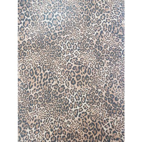 SteamPunk Leopard Print Black/ Brown Wallpaper