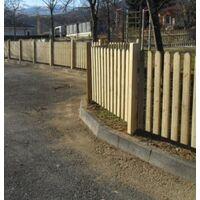 Steccato in Legno di Pino con Doghe - Dimensioni: L 200cm x H 80cm