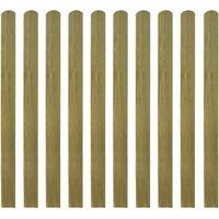 Stecche per Recinto 10 pz 120 cm in Legno Impregnato
