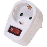 Steckdosenschalter/Steckdose mit beleuchtetem Schalter schaltbare Steckdose TÜV-Süd geprüft Adapter