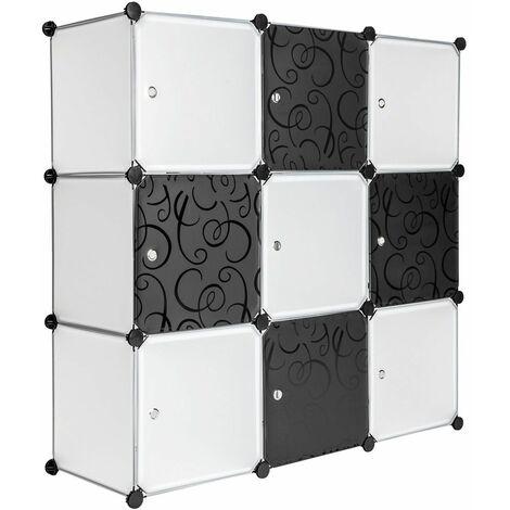 Steckregal 9 Boxen mit Türen - Regal, Raumteiler Regal, Lagerregal - weiß - blanco