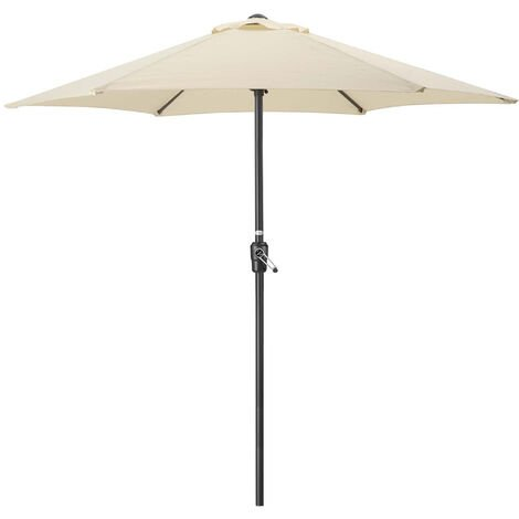 Steel 2m Parasol With Crank Handle