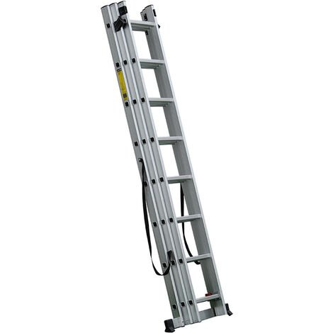 3-Section 12 Steps Multi-purpose Ladder, Folding Ladder, from 3.4 to 8.5 m