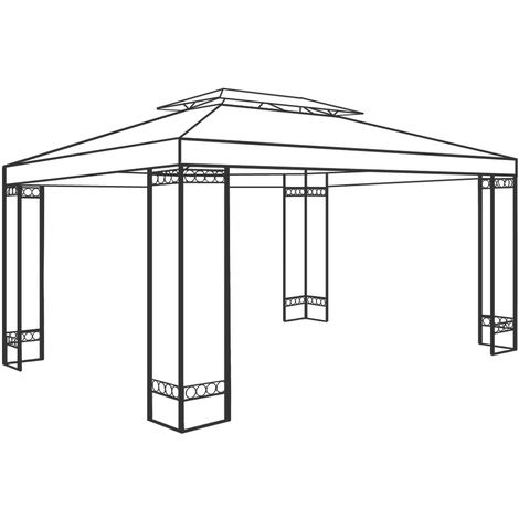 Steel Frame Gazebo DEUBA Pavilion ELDA 4x3m Outdoor Garden Tent Powder Coated