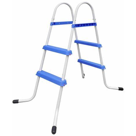 Steel Frame Pool Ladder Non-Slip Steps 86,5 cm QAH32071