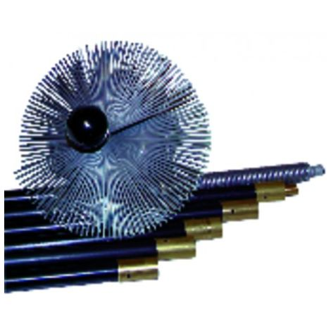 Steel roller brush with ball
