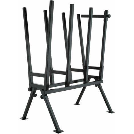 Steel sawhorse - log saw horse, chainsaw saw horse, metal saw horse - black