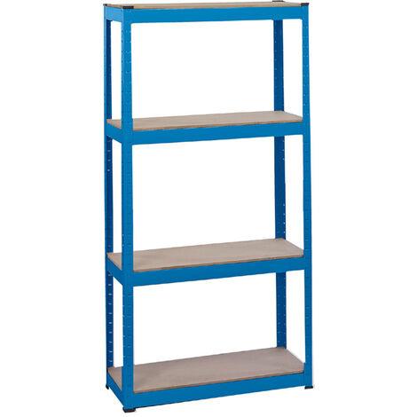 Steel Shelving Unit - Four Shelves (L760 x W300 x H1520mm)