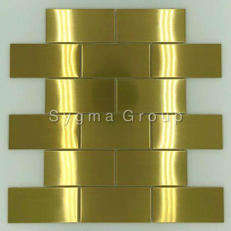 steel tile for kitchen wall backsplash LOFT GOLD