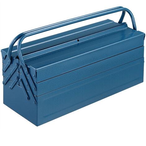Steel Tool Box, Blue, 530X200X210 MM