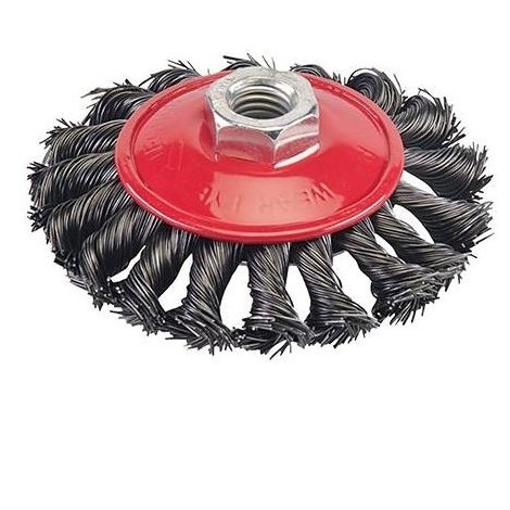 Steel Twist-Knot Brush - 100mm