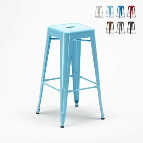 STEEL UP Tolix Industrial Stool Metal Steel for Dining Rooms and Venues