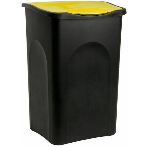 Stefanplast® Mülleimer 50L mit Klappdeckel Abfalleimer Müllbehälter Papierkorb