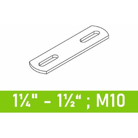 """Steg für Bügelschrauben 1 1/4"""" (42,4 mm) ...1 1/2"""" (48,3 mm) - M10"""