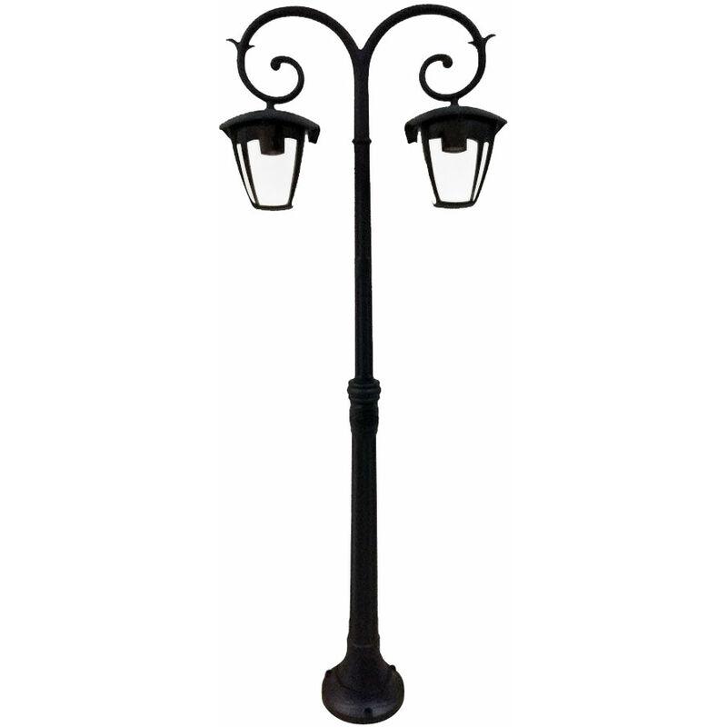 Außen Leuchte Garten Weg Kandelaber ALU Steh Beleuchtung IP44 Glas Stand Lampe V-TAC7061