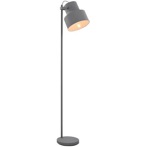 Stehlampe Metall Grau E27