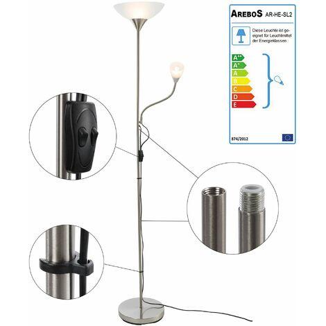 Stehlampe mit Leseleuchte - Stehleuchte Standleuchte Leuchte Lampe Fluter
