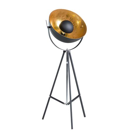 Stehlampe schwarz/Gold 165 cm THAMES II
