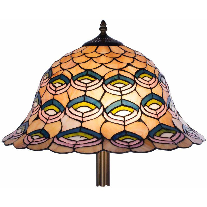 Stehlampe Tiffany Style Tiff109 Dekorationslampe Glaslampe Leuchte Stehleuchte